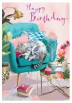 Birthday Card - Cat Nap - At Home Ling Design