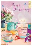 Birthday Card - Tea & Cake - At Home Ling Design
