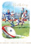 Birthday Card - Rugby Sunday League - At Home Ling Design
