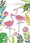 Birthday Card - Female - Flamingo - Georgia Breeze Ling Design