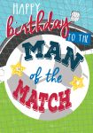 Birthday Card - Male - Football Man of the Match - Jolly Good Ling Design