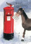 Christmas Card Charity Pack - Horsing Around Horse Pony - Alex Clark