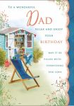 Birthday Card Large - Dad - Garden Shed - Glitter - Regal