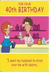 40th Birthday Card - Female Humour - Perfume Shop