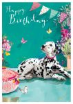 Birthday Card - Dalmatian Dog - At Home Ling Design