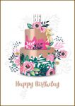 Birthday Card - Female Cake - Bijou Talking Pictures