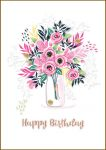 Birthday Card - Female Flowers Vase - Bijou Talking Pictures