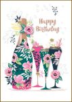 Birthday Card - Female Champagne - Bijou Talking Pictures