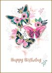 Birthday Card - Female Butterflies - Bijou Talking Pictures