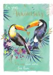 Wedding Anniversary Card - Toucan - The Wildlife Ling Design