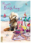 Birthday Card - Beach Buddy - Dog Picnic - At Home Ling Design