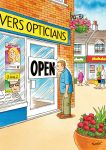 Birthday Card - Opticians - Humour Rainbow Ling Design