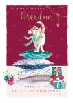 Christmas Card - Grandma Cat Cozy - The Wildlife Ling Design