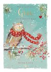 Christmas Card - Gran - Owl - The Wildlife Ling Design