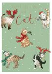 Christmas Card - From The Cat - Purr-fect Xmas - The Wildlife Ling Design