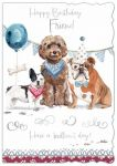 Birthday Card - Friend - Dogs - Out of the Blue