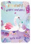 Birthday Card - Mummy - Swan - Jack & Lily Ling Design