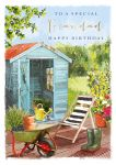 Birthday Card - Grandad - Shed In The Garden - At Home Ling Design