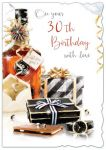 30th Birthday Card - Male - Gifts - Glitter Out of the Blue
