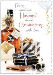Wedding Anniversary Card - Large - Husband - Gifts - Glitter Out of the Blue