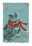 Christmas Card - Grandad - Owl - The Wildlife Ling Design