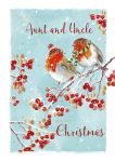 Christmas Card - Aunt & Uncle - Robin - The Wildlife Ling Design