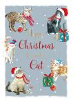 Christmas Card - From The Cat - Grey - The Wildlife Ling Design