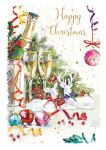Christmas Card - A Xmas Toast - Champagne - At Home Ling Design