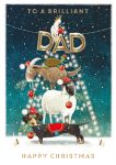 Christmas Card - Dad - Animal Tree - Xmas Collection Ling Design