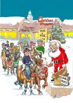 Christmas Card Pack - 6 Cards - Park & Ride - Cheeky Ponies Santa - Funny Gift Envy