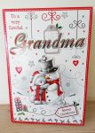 Christmas Card - Grandma - Extra Large Cute Card
