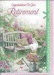 Retirement Card - Female - Garden Bench Relax
