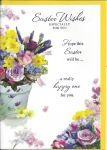 Easter Card - Easter Wishes - Purple Floral