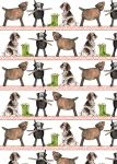 Country Dogs Gift Wrapping Paper Sheets & Tags - Alex Clark