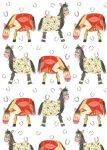 Horses Pony Gift Wrapping Paper Sheets & Tags - Alex Clark