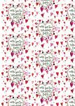 Wedding Day Heart Gift Wrapping Paper Sheets & Tags - Alex Clark