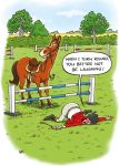 Greetings Birthday Card - Horse Rider Show Jumping - Funny - Country Cards