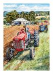 Birthday Card - Vintage Tractor Ploughing Match - Country Cards