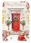 Christmas Card - Snow Front Door - At Home Ling Design