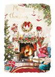 Christmas Card - Cosy Xmas - Fireplace - At Home Ling Design