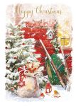Christmas Card - Starting to Snow - Wheelbarrow - At Home Ling Design