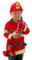 Melissa & Doug - Fire Man Fancy Dress Outfit
