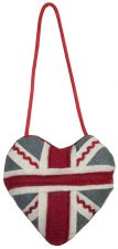 Felt Union Jack Heart Mobile Hanger