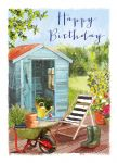 Birthday Card - Relax in the Garden - Shed - At Home Ling Design