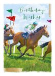 Birthday Card - At The Races - Horses - At Home Ling Design
