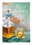 Birthday Card - Just For You - Whiskey - At Home Ling Design