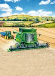 Birthday Card - Combine Farming - John Deere - Country Cards