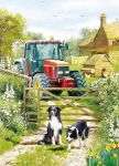 Birthday Card - On The Farm - Red Tractor - Country Cards