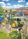 Birthday Card - In The Farmyard - Green Tractor John Deere - Country Cards