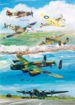 Birthday Card - WW2 Fighters & Bombers Aeroplanes - Country Cards